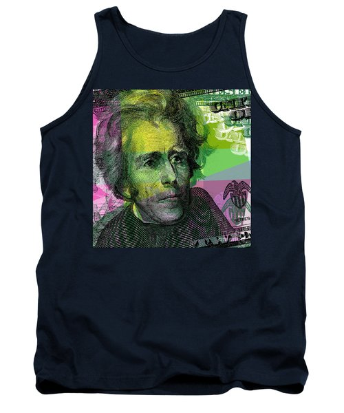 Tank Top featuring the digital art Andrew Jackson - $20 Bill by Jean luc Comperat