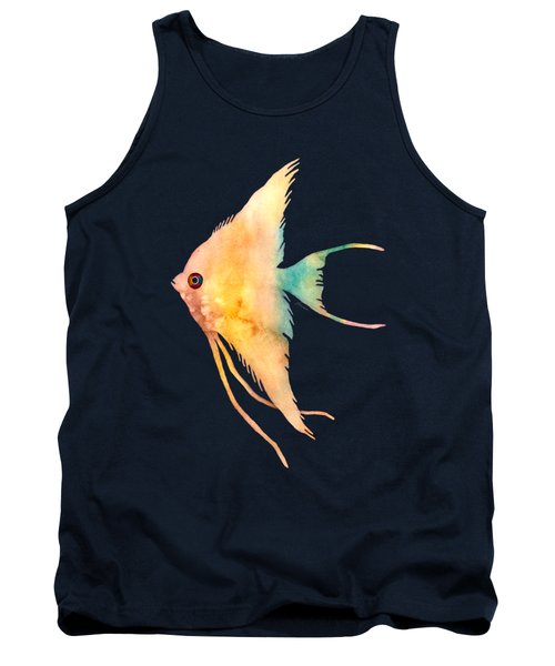 Angelfish II - Solid Background Tank Top by Hailey E Herrera