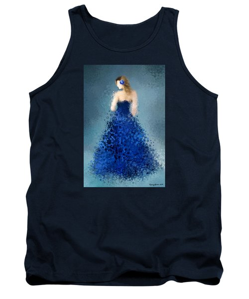 Tank Top featuring the digital art Angelica by Nancy Levan