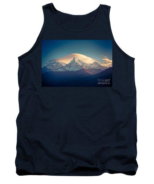 Annapurna Sunrise Himalayas Mountain Artmif Tank Top