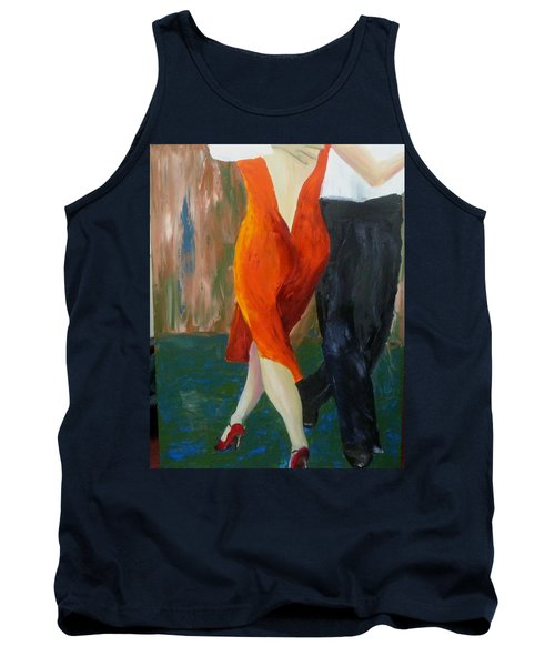 Tank Top featuring the painting Another Tango Twirl by Keith Thue