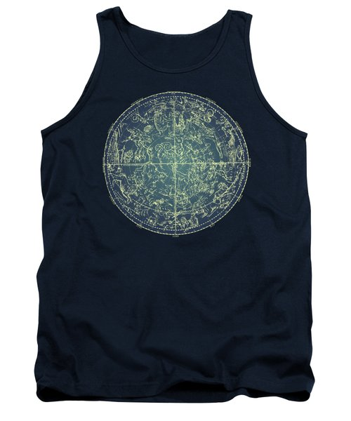Antique Constellation Of Northern Stars 19th Century Astronomy Tank Top