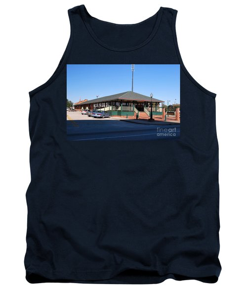 Tank Top featuring the photograph Arcadia Train Station by Gary Wonning