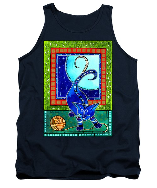 Aries Cat Zodiac Tank Top