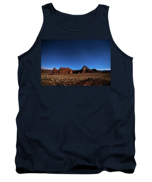 Arizona Landscape At Night Tank Top