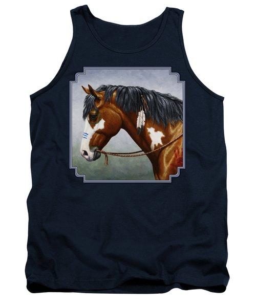 Bay Native American War Horse Tank Top