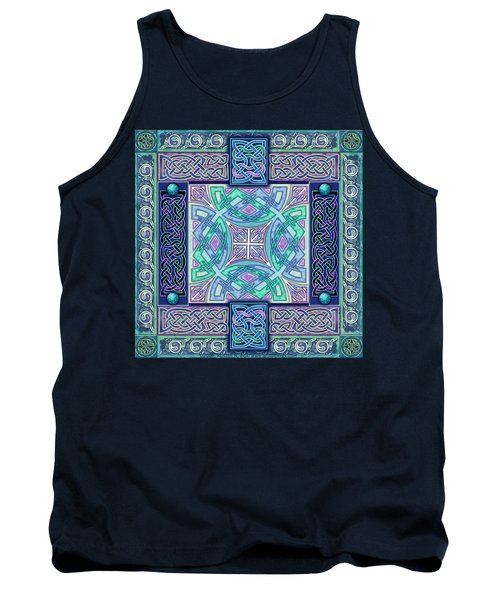 Tank Top featuring the mixed media Celtic Atlantis Opal by Kristen Fox