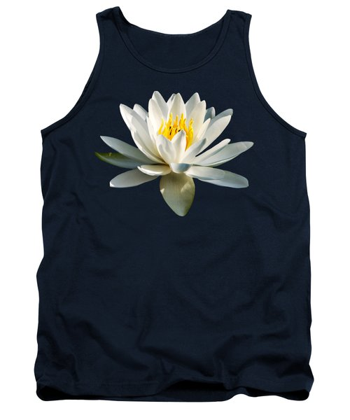 White Water Lily Tank Top by Christina Rollo