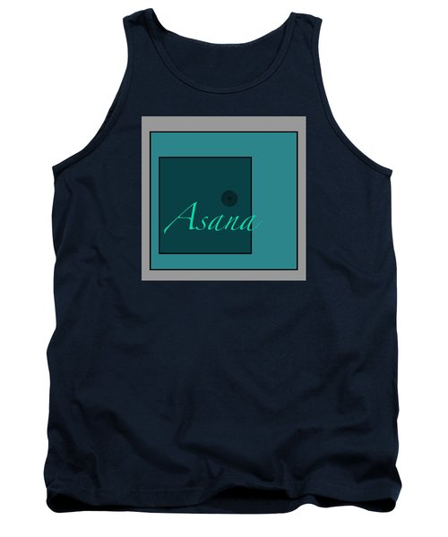 Tank Top featuring the digital art Asana In Blue by Kandy Hurley