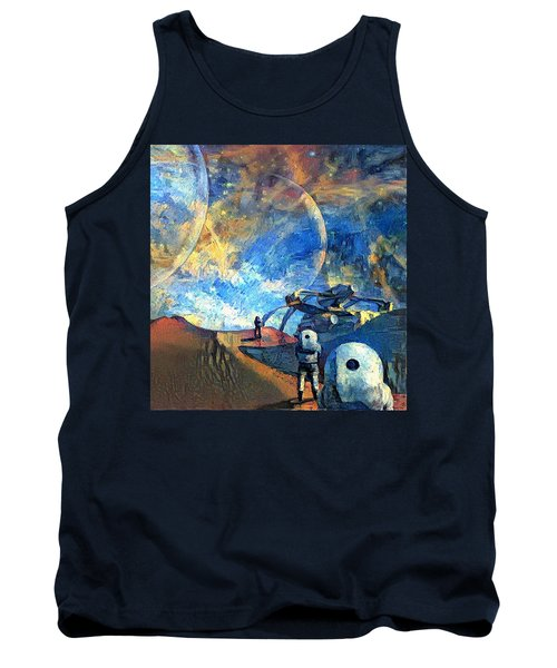 Astronauts On A Red Planet Tank Top