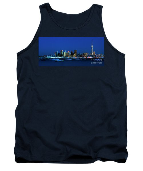 Auckland City Night Lights Tank Top by Karen Lewis