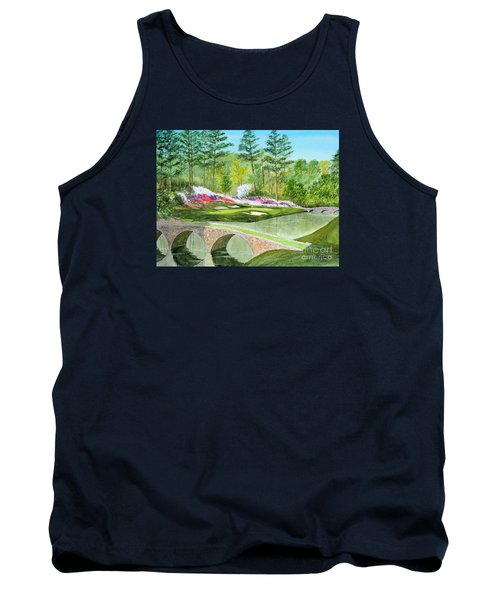 Tank Top featuring the painting Augusta National Golf Course 12th Hole by Bill Holkham
