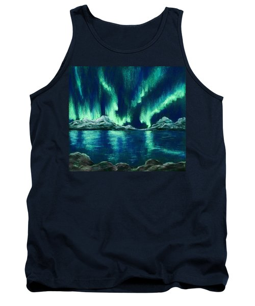 Tank Top featuring the painting Aurora Borealis by Anastasiya Malakhova