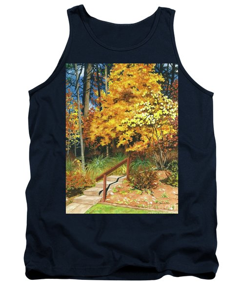 Tank Top featuring the painting Autumn Invitation by Barbara Jewell