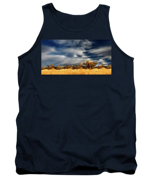 Tank Top featuring the painting Autumn On The Edge Of The Great Plains  by David Dehner