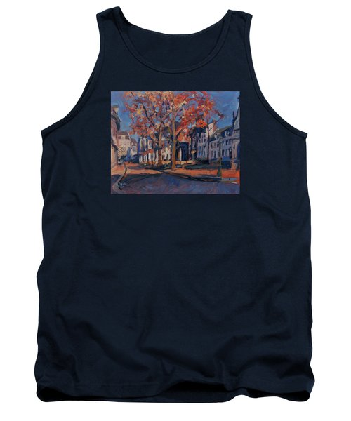 Tank Top featuring the painting Autumn On The Square Of Our Lady Maastricht by Nop Briex