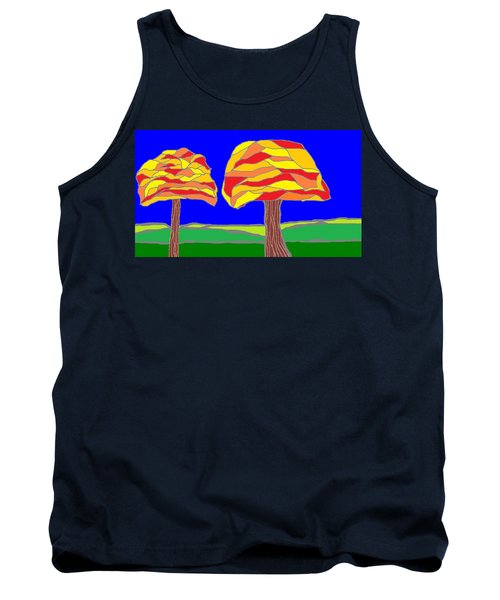 Autumn Stained Glass 1 Tank Top
