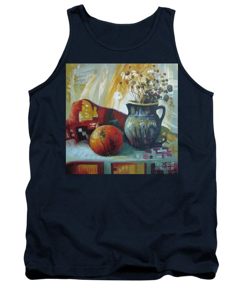 Tank Top featuring the painting Autumn Story by Elena Oleniuc