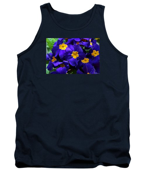 Tank Top featuring the photograph Azure Primrose by Michiale Schneider