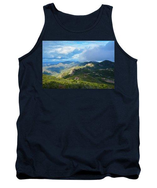Tank Top featuring the photograph Backbone Trail Santa Monica Mountains by Kyle Hanson