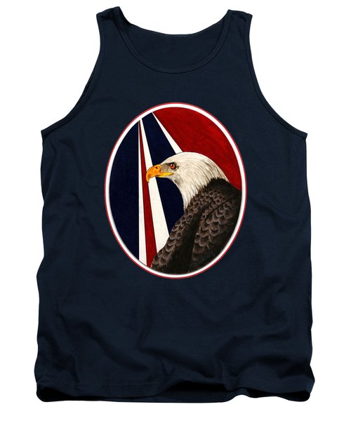Bald Eagle T-shirt Tank Top by Herb Strobino