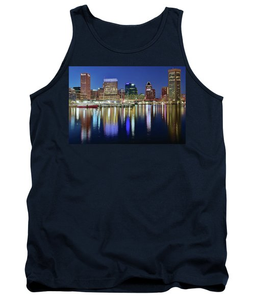 Baltimore Blue Hour Tank Top by Frozen in Time Fine Art Photography