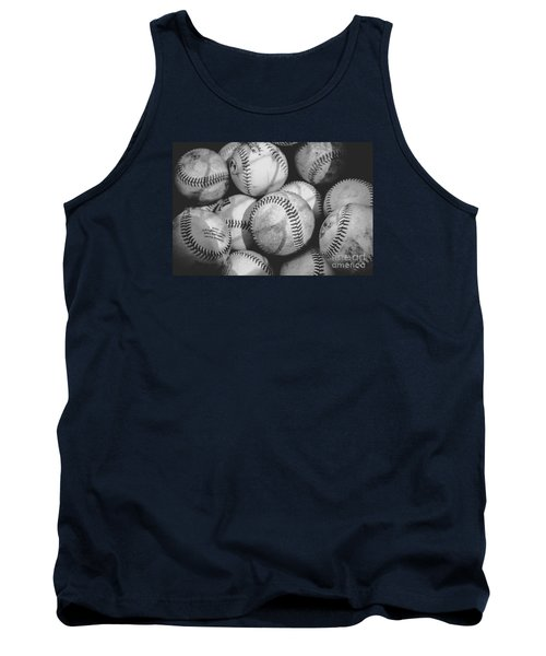 Baseballs In Black And White Tank Top