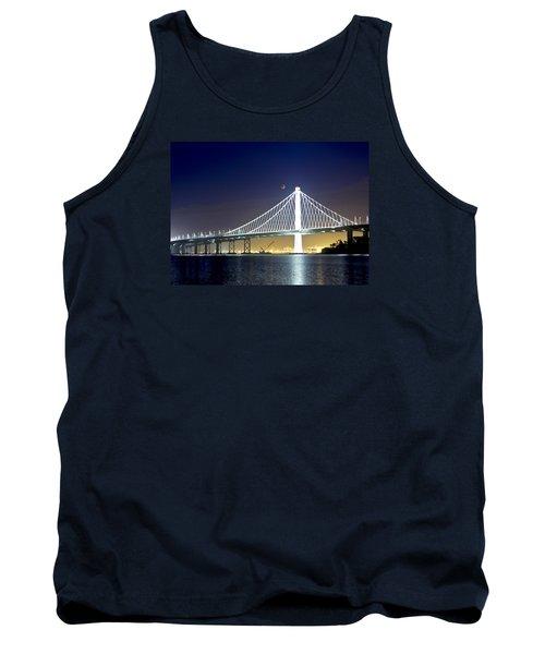 Bay Bridge Under A Blood Moon Tank Top