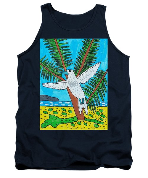 Beach Bird Tank Top by Artists With Autism Inc