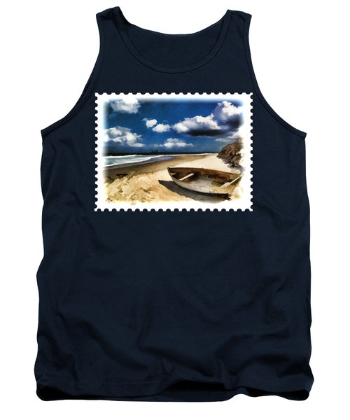 Beached Boat Before The Storm Tank Top