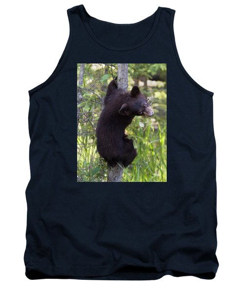 Bear Cub On Tree Tank Top