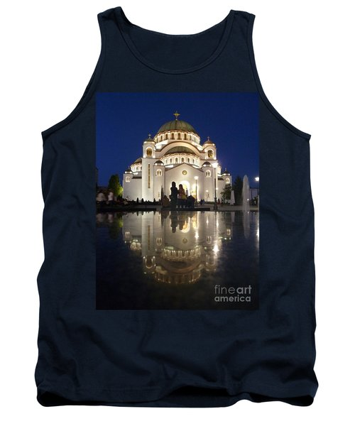 Tank Top featuring the photograph Belgrade Serbia Orthodox Cathedral Of Saint Sava  by Danica Radman