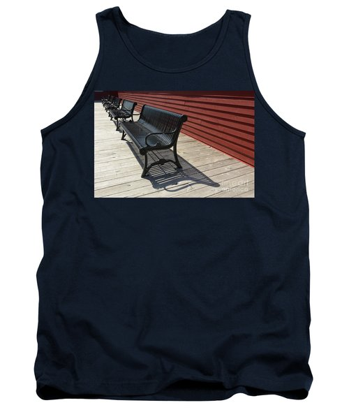 Bench Lines And Shadows 0841 Tank Top