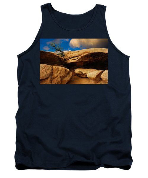 Tank Top featuring the photograph Between A Rock And A Hard Place by Harry Spitz