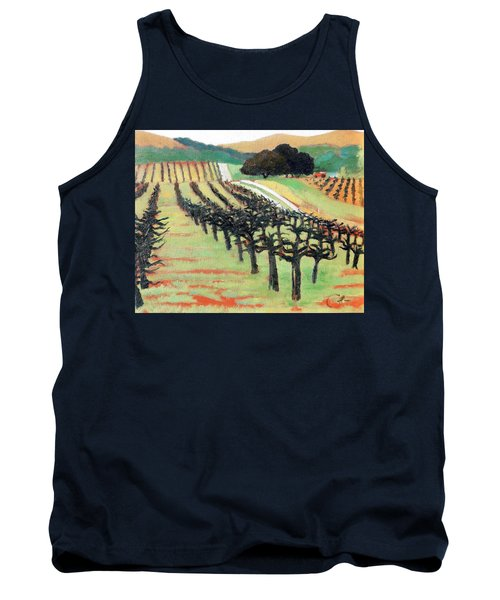 Tank Top featuring the painting Between Crops by Gary Coleman