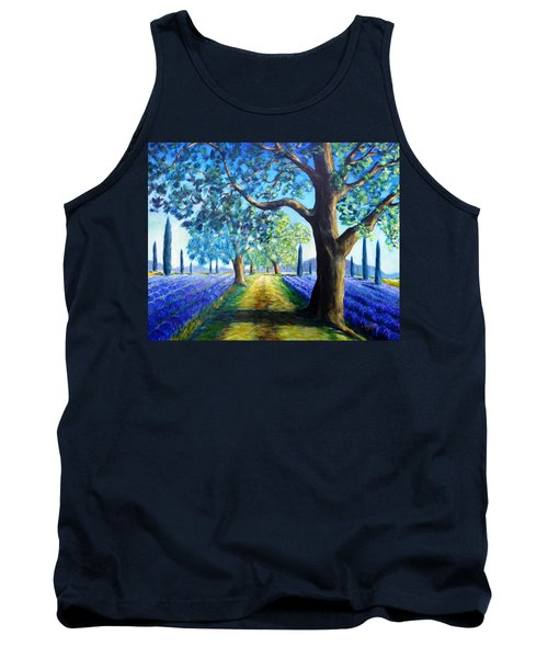 Between The Lavender Fields Tank Top