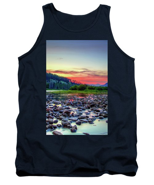 Big Hole River Sunset Tank Top