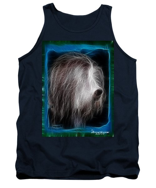Tank Top featuring the photograph Big Shaggy Dog by EricaMaxine  Price