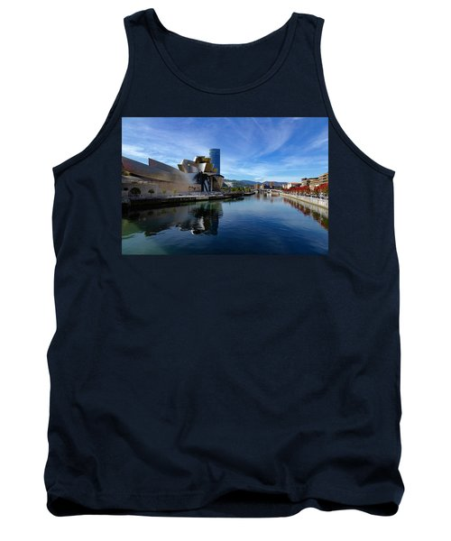 Bilbao In Autumn With Blue Skies Next To The River Nervion Tank Top