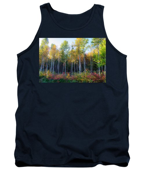Birch Trees Turn To Gold Tank Top