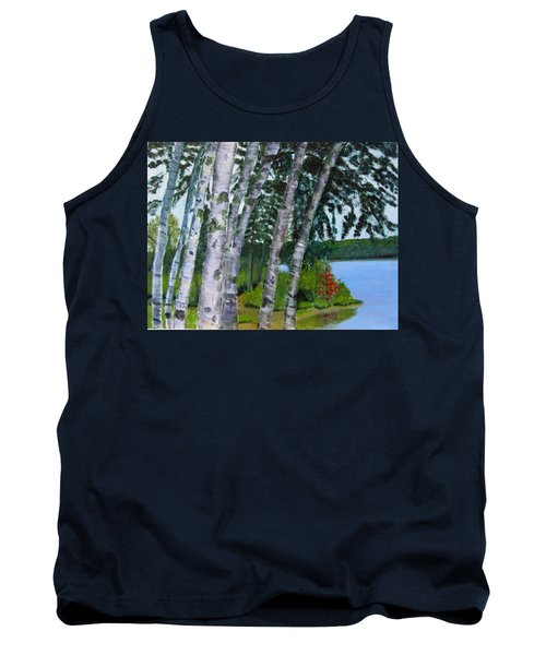 Birches At First Connecticut Lake Tank Top