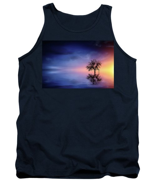 Birds In The Trees, Some Are Fleeing Tank Top by Bess Hamiti
