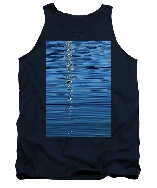 Black And White On Blue Tank Top
