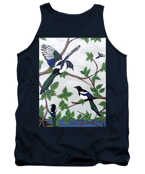 Black Billed Magpies Tank Top
