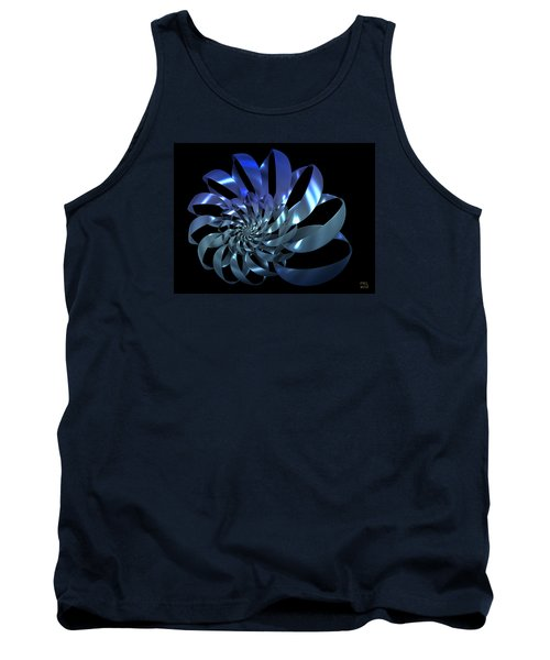 Tank Top featuring the digital art Blades by Manny Lorenzo