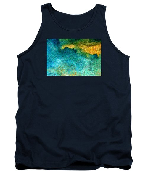 Blue Abstract #5 Tank Top