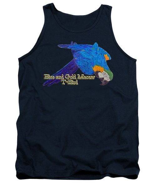 Blue And Gold Macaw Tank Top