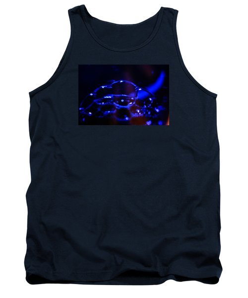 Tank Top featuring the digital art Blue Bubbles by Jana Russon