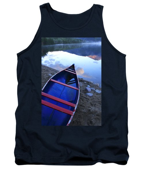 Blue Canoe Tank Top by Catherine Alfidi