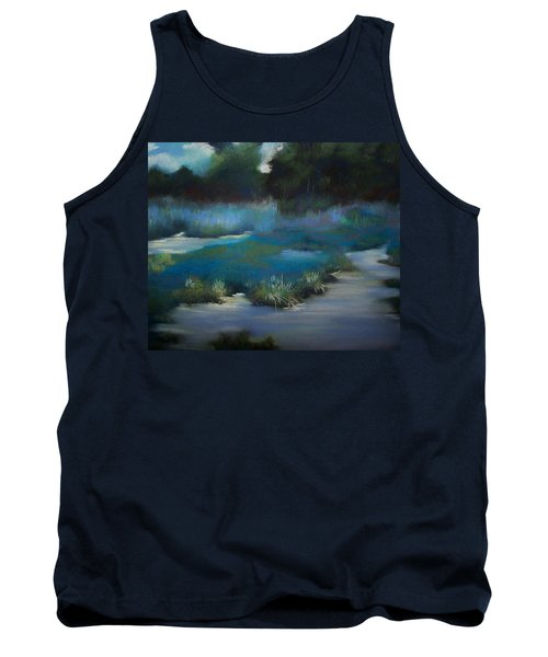 Blue Eden Tank Top by Marika Evanson